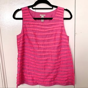 J. Crew Pink Striped Top